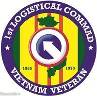 ARMY VIETNAM VETERAN 1ST LOGISTICAL COMMAND BUMPER CAR STICKER DECAL
