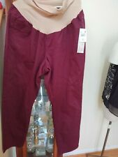 NEW Motherhood Plus Maternity Womens Dress Career Pants Plus Size 3X Burgundy
