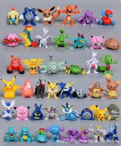 144 Lot for Pokemon Figures Mini PVC Action Pikachu Toys Kids Gift