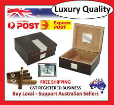 Hand Made 25+ Count Cigar Humidor Box Cabinet Mahogany Humidifier Hygrometer T
