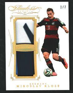 2015-16 flawless soccer Miroslav Klose 4 color match worn 1/7
