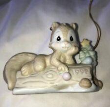 "Enesco Precious Moments Squirrel ""I'M Nuts About You� 1992 Ornament"