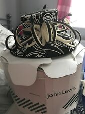 John Lewis Black And Cream Hat