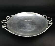 Vintage Buenilum Hand Wrought Aluminum Serving Tray or Shallow Bowl