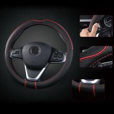 """15""""/38cm Carbon Fiber Leather Auto Car Steering Wheel Cover Non-slip Accessories"""