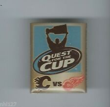 Calgary Flames vs Detroit Red Wings Quest for the Cup Playoffs Lapel Pin
