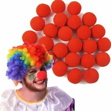 25 RED FOAM CLOWN NOSES CIRCUS CLOWN COSTUME FANCY DRESS CARNIVAL PARTY FAVORS