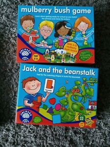 Orchard toys 2 games Jack and the beanstalk and Mulberry Bush Games (ages 3-6)