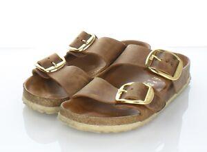 97-25 $150 Women's Sz 7 N Birkenstock Arizona Big Buckle Oiled Leather Sandal