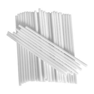 100x Cake Pops Stiele Lolli Sticks Lutscher Lollipop 98mm Weiß Kunststoff Kuchen