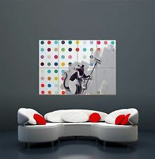 BANKSY RAT PAINTING GRAFFITI COOL PAINT GIANT ART POSTER PRINT  WA437