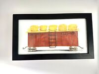 Spicher and Company Train Car Picture Wall Hanging Kolene Spicher Signed Number