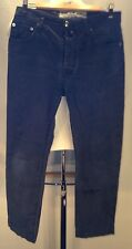 F225 Jacob Cohen Made In Italy Tailored Jeans 32x28 Handmade Gray Teal