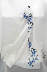 1/6 1/4 1/3 Uncle BJD Clothes Archaic Outfit Antique Cloak Blue Plum Blossom