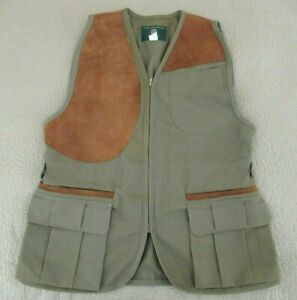 GENTLY USED Vintage USA Made ORVIS Shooting Hunting Vest w/ Right Side Suede Pad