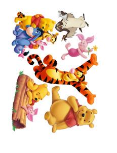 WINNIE THE POOH Disney VINYL STICKERS DECALS SET OF 6 MATTE FINISH