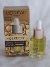 L'OREAL AGE PERFECT GLOW RENEWAL FACIAL OIL TREATMENT .5 OZ NIB