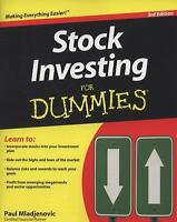 Stock Investing for Dummies by Paul Mladjenovic (2009, Paperback)