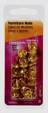 >>> HILLMAN Upholstery Tacks Furniture Trim Nails Brass No.9 Round 25 Pcs 122682