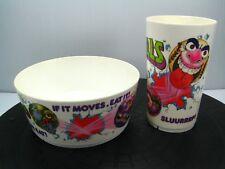 Vintage 1986 MADBALLS Plastic BOWL CUP Kids Breakfast Set MONSTER Deka Plastics
