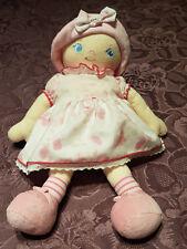 Doudou Poupée Chiffon Doll Corolle Rose Pink J4600 K4216 33cm 2006 Intemporels *