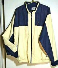 Pga Tour Golf Men's Xl Blue Yellow Color Block Lined Full Zip Windbreaker Jacket