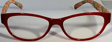 New! Foster Grant Simply Specs Vivid Wine 1.25 Reading Glasses W/Soft Case.