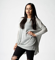 New ex ASOS Grey Semi Sheer Knit Oversized Jumper RRP £25 Sizes 4-18