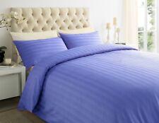 Duvet Cover & Pillow Case 100% Egyptian Cotton Stripe 400TC Bedding Set All Size