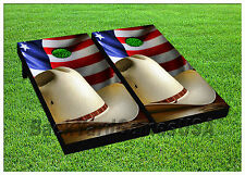 VINYL WRAPS American Cowboy Cornhole Boards DECALS Bag Toss Game Stickers 732