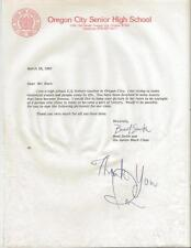 Ron Hunt Signed Response to Fan Letter Giants