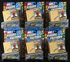 6 NEW Marvel Heroes FIGURE FACTORY Series 1 MYSTERY FIGURE Storm TOY BIZ O P R T