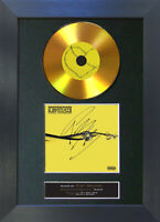 GOLD DISC POST MALONE Beerbongs & Bentleys Signed Autograph Mounted Print A4 194