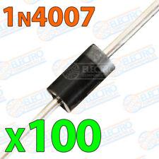 100x 1N4007 Diodos rectificadores 1A 1000V DO-41 electronica soldar pcb pic