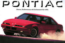 1991 PONTIAC BROCHURE -FIREBIRD FORMULA-TRANS AM GTA-GRAND PRIX-GRAND AM-SUNBIRD