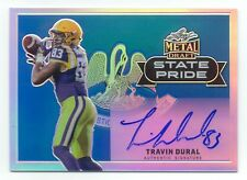 TRAVIN DURAL 2017 Leaf Metal Draft AUTOGRAPH State Pride AUTO LSU Tigers