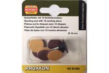 Proxxon 28982 Disques Abrasifs - Sanding Discs With Arbor 18mm 10pcs