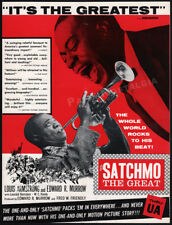 SATCHMO THE GREAT__Orig. 1957 Trade AD promo__LOUIS ARMSTRONG__LEONARD BERNSTEIN