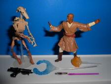 Star Wars 2002 Modern Style Aotc Mace Windu ~ With Blast Apart Battle Droid