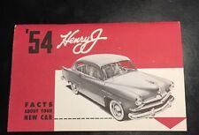 1954 Henry J Full Owner's Packet