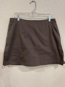 Adidas Women's Stretch Golf Skirt Skort Brown Pockets Size 12
