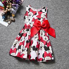 Kids Baby Girls Dresses Cartoon Minnie Mouse Summer Princess Dress Party Casual