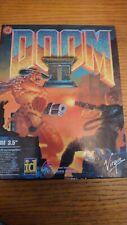 "Doom II PC Big Box rare 1994 classic 5 x 3.5"" floppy discs and manual."