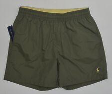 Men's POLO RALPH LAUREN Olive Green Drab Swimsuit Trunks Large L NWT NEW