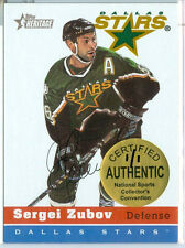 2000-01 HERITAGE Sergei Zubov NATIONAL SPORTS COLLECTOR'S CONVENTION Card #d 1/1