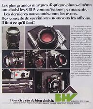PUBLICITÉ HV OPTIQUE PHOTO CINEMA - PENTAX - MINOLTA - SANKYO POLAROÏD TECHNIKA