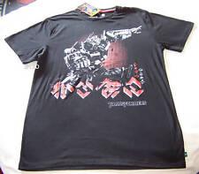 Transformers Optimus Prime Mens Black Printed Short Sleeve T Shirt Size XS New