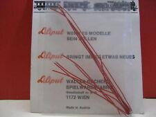 Liliput Original Jeu De Câbles Pour Locomotive A Vapeur hochflexibel rouge (10 pièces) NEUF