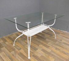 Gartentisch Tisch Metall Glas shabby Design mid century modern 50er 50s vintage