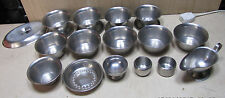 16 stainless steel catering bowls / dishes gravy boat etc